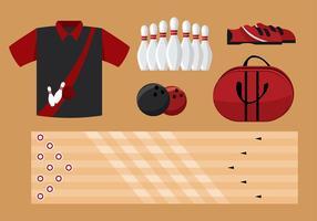 Bowling Equipment Vector grátis