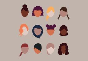 Penteados para meninas vetor
