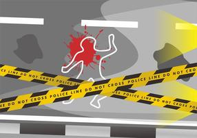 Fitas da cena do crime perigo projeto do vetor