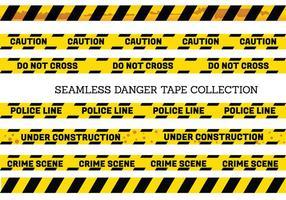 Vector Set of Seamless Perigo e Tapes Cuidado