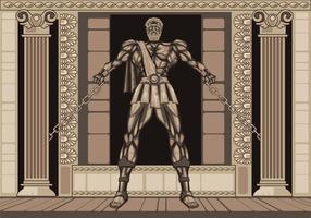 Estátua The Legendary de Hércules vetor
