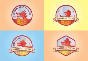 Elementos do logotipo Dragon Boat Festival vetor