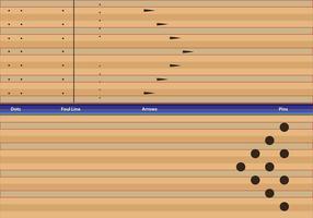 Dicas Informações pista de bowling vetor