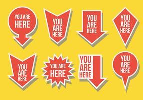 Livre Você está aqui Icons Vector