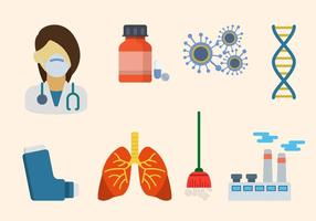Vector Asthma plana