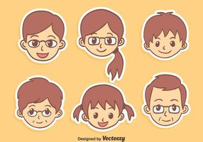 Bom Vector Família dos desenhos animados