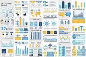 agrupar elementos de infográfico de negócios vetor