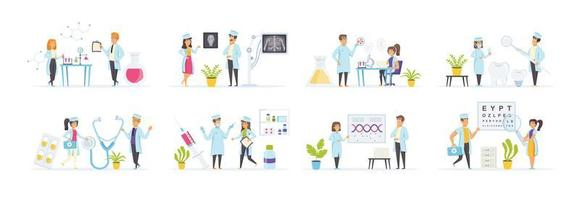saúde e medicina com personagens de pessoas