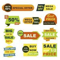 conjunto de emblemas de grande venda vetor