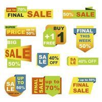 conjunto de emblemas de grande venda
