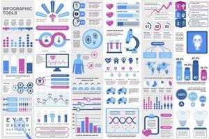 agrupar elementos de infográfico médico vetor