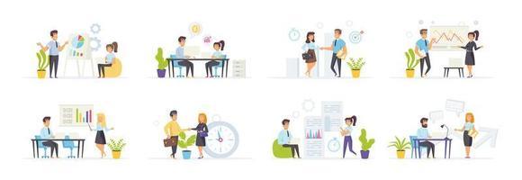 reunião de negócios marcada com personagens de pessoas