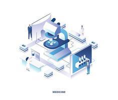 design isométrico de medicina vetor