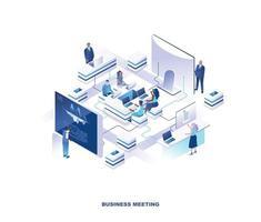 projeto isométrico reunião de negócios vetor
