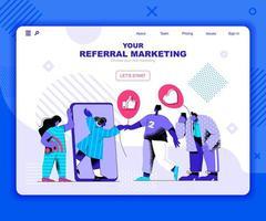 modelo de página de destino de marketing de referência