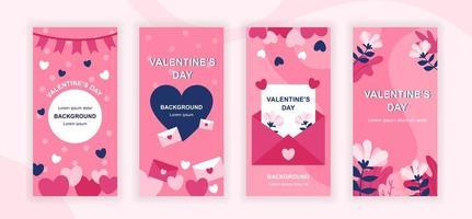 design de histórias de mídia social para o dia dos namorados vetor