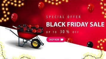 oferta especial, banner de desconto de venda na sexta-feira negra
