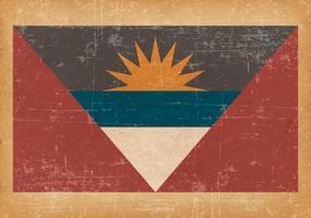 Bandeira de Antígua e Barbuda no fundo velho Grunge vetor