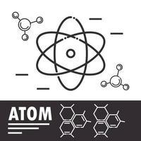 biologia, química e composição de ícones de ciências vetor