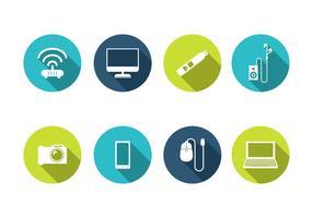 Vector de ícones tecnológicos