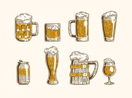 Vetor ícones da cerveja