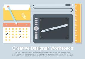 Livre Plano Workstation Elements Vector