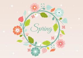Livre fundo grinalda Flor da Primavera vetor