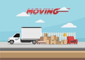Movendo Van Ilustração