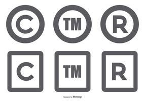 Coleção Copyright Symbol vetor
