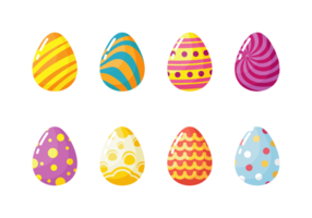 Ovos de Easter Icons Vector