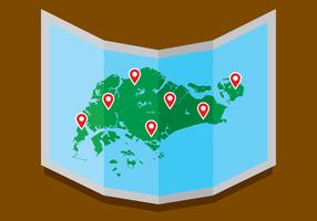 Mapa Vector Graphics Singapura