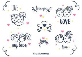 Amor Set Vector