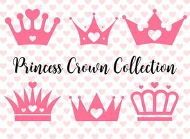 Vector Princesa coroas Set