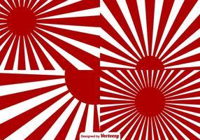 Background II Guerra Mundial Japão Sunburst Effect vetor
