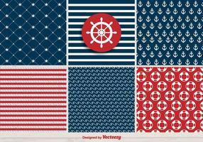 Vector conjunto de padrões de Retro Marinha