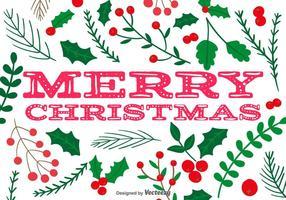 Fundo Holly Merry Natal do vetor
