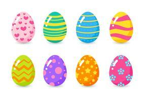 Jogo de ovos de páscoa coloridos vetor
