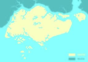 Vector Singapura Mapa