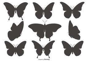 Coleção da borboleta Shapes Silhueta vetor