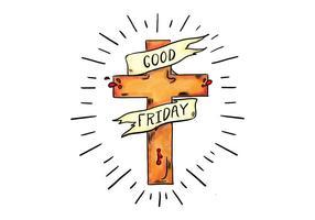 Sexta-feira Santa do vetor da cruz de Jesus