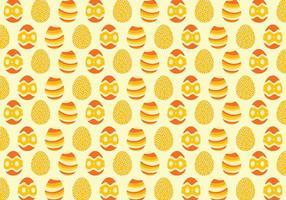 Yellow Background Pattern Ovo de Páscoa