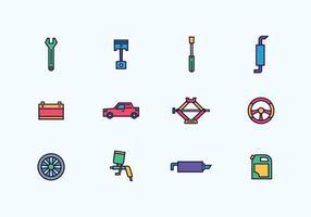 Pacote de ícones reparação de automóveis vetor