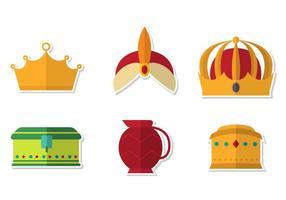 Conjunto de vetores da coroa da epifania