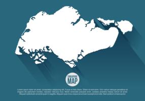 Singapura Mapa Ilustração vetor