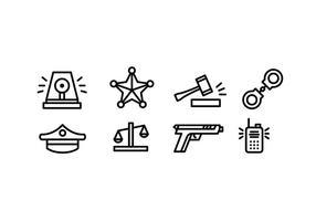 Simples Polícia Icons Vector