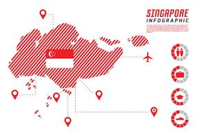 Cingapura Infográfico vetor