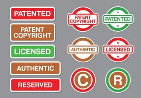 Copyright and Stamp Patent Vector Pack