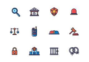 Ícones de aplicação da lei vetor