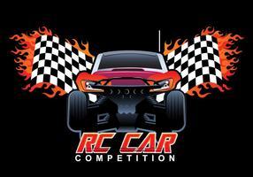 Vector competição do carro Rc