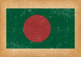 Bandeira de Bangladesh no fundo do grunge vetor